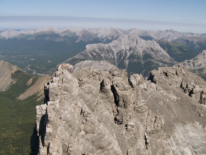 The view to the East from the summit