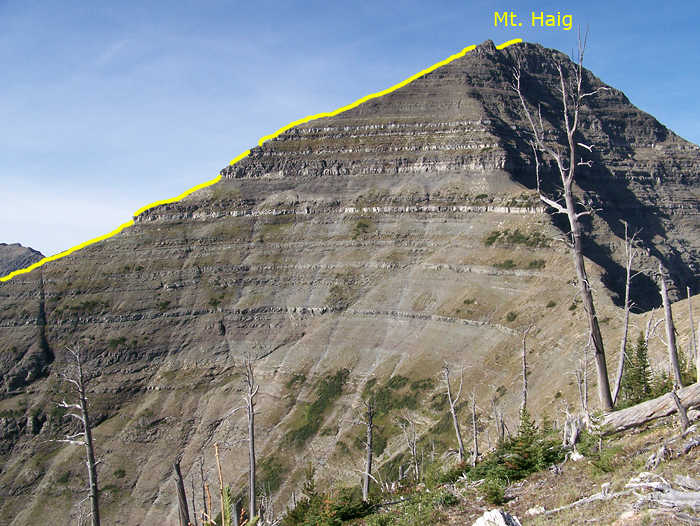 My route on the East ridge of Haig