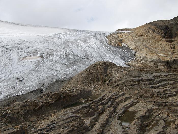 Then the impressive Wapta Icefield