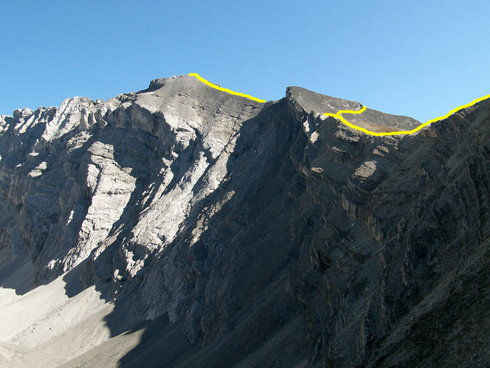 Ridge route to the summit