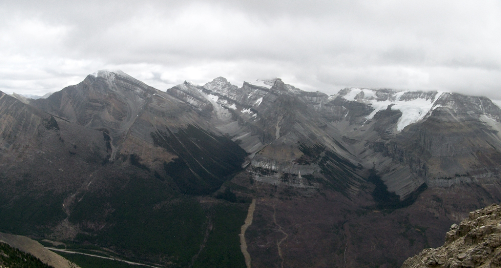 Looking South towards Storm Mountain and Mount Stanley