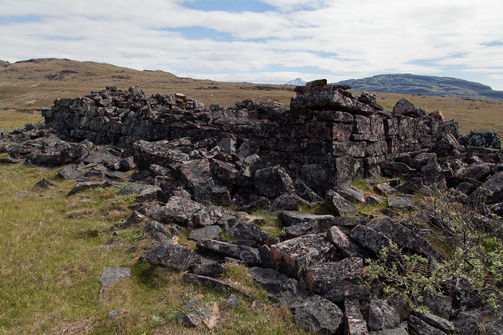 The Norse ruin. It resembles a church ruin, but apparently it is not