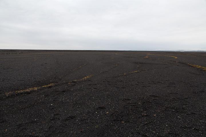 Black sand plains, looking due West