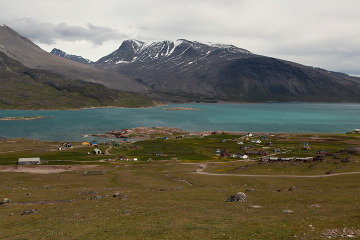 Igaliku and the mountain Illerfissalik in the background from the King's Road