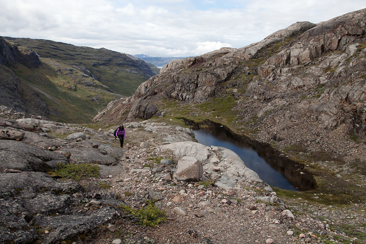 Coming to the top of the waterfall - a very scenic plateau followed