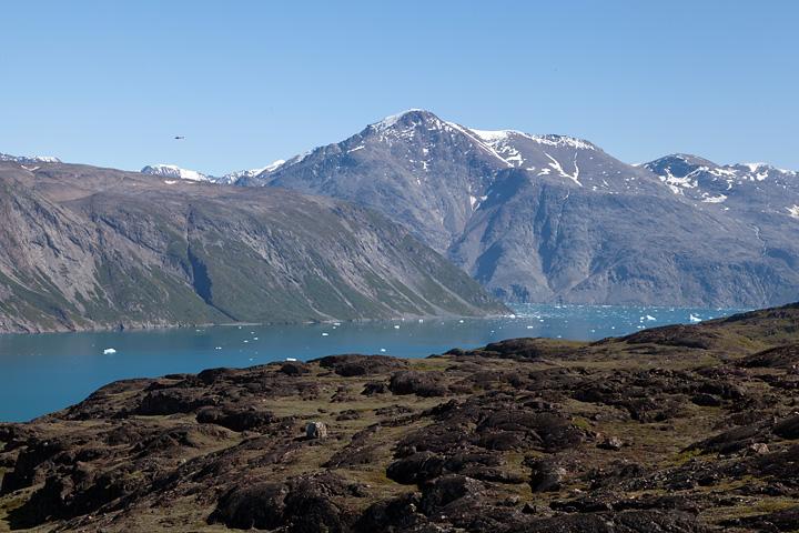 The mountain Illerfissalik across the fjord