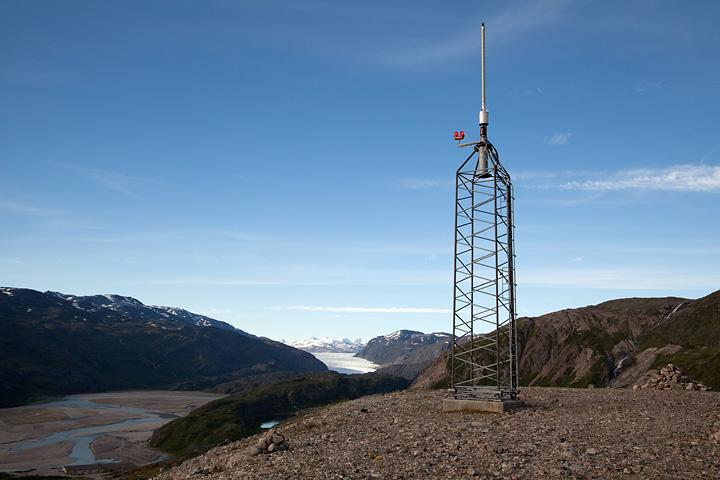 Air traffic beacon on the summit