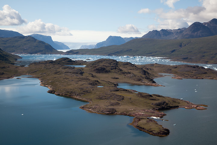 One last view of Tasiusaq Fjord before descending