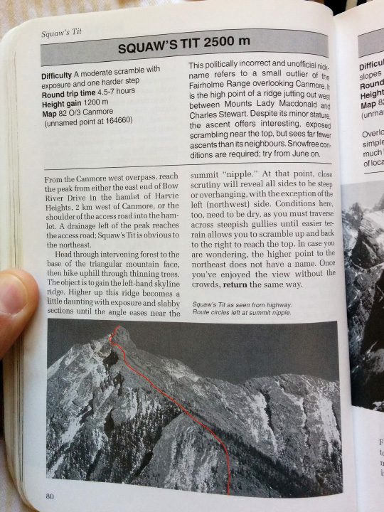 The entry from Alan Kane's Scrambles in the Canadian Rockies