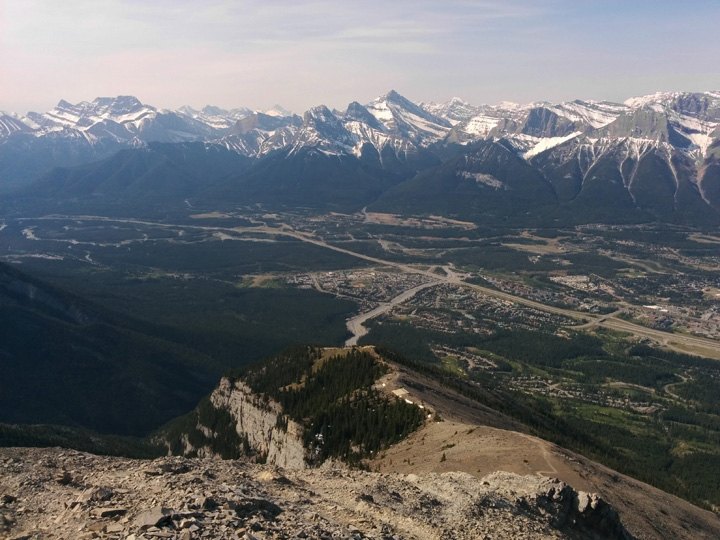 Looking back down Lady Macdonald's shoulder into the Bow Valley